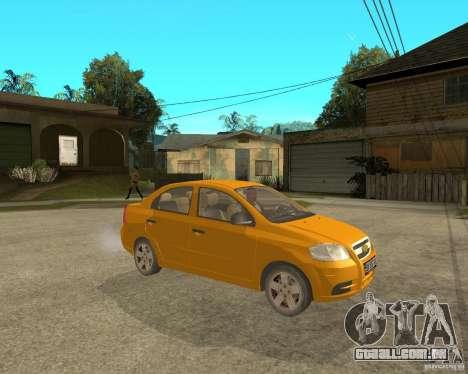 Chevrolet Aveo 2007 para GTA San Andreas vista direita