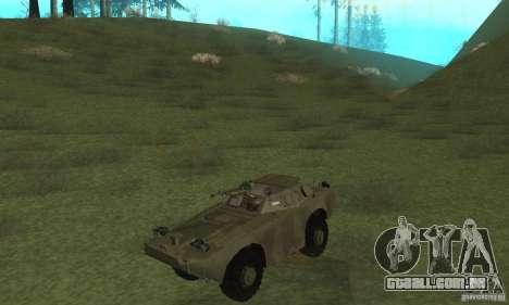 BRDM-1 pele 3 para GTA San Andreas esquerda vista