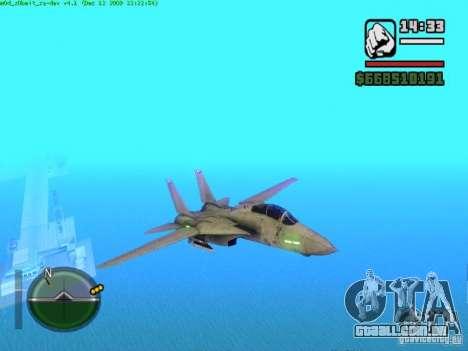 F 14 A TOMCAT para GTA San Andreas esquerda vista