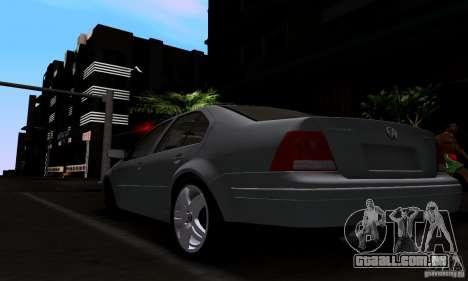 Volkswagen Bora 1.8T para GTA San Andreas esquerda vista