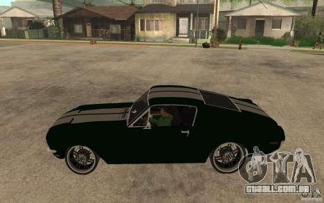 Ford Mustang TOKYO DRIFT para GTA San Andreas esquerda vista