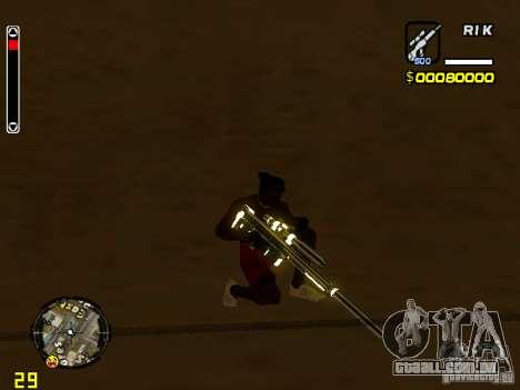 White and Black weapon pack para GTA San Andreas segunda tela