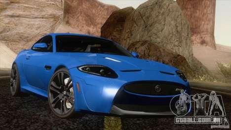 Jaguar XKR-S 2011 V1.0 para GTA San Andreas vista superior