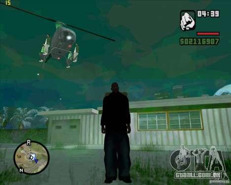 Helicóptero ajuda para GTA San Andreas por diante tela