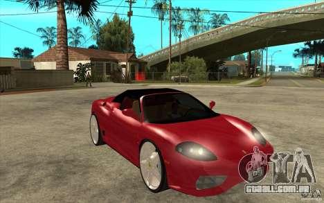 Ferrari 360 Spider para GTA San Andreas vista traseira