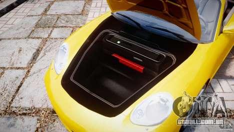 Porsche Boxster S para GTA 4 vista de volta