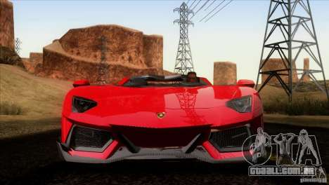 Lamborghini Aventador LP-700 J para GTA San Andreas vista inferior