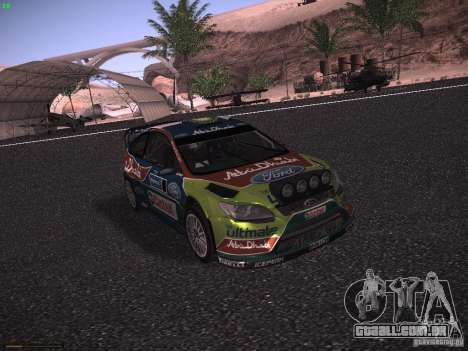Ford Focus RS WRC 2010 para GTA San Andreas esquerda vista
