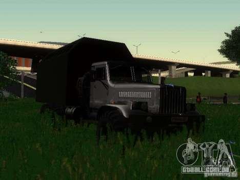 KrAZ-254 para GTA San Andreas vista traseira