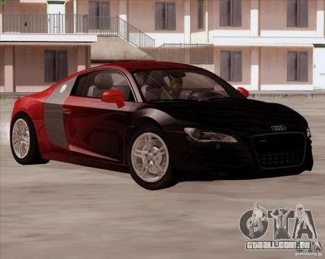 Audi R8 Production para GTA San Andreas vista traseira