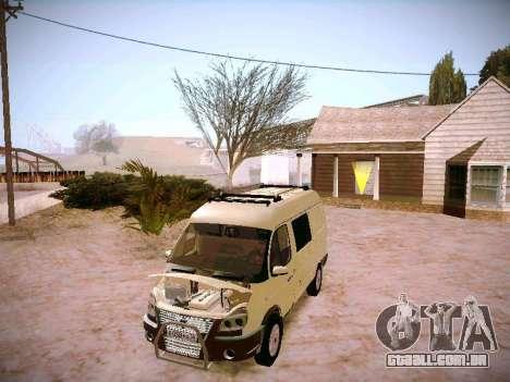 GAZ 2217 negócios para GTA San Andreas vista interior