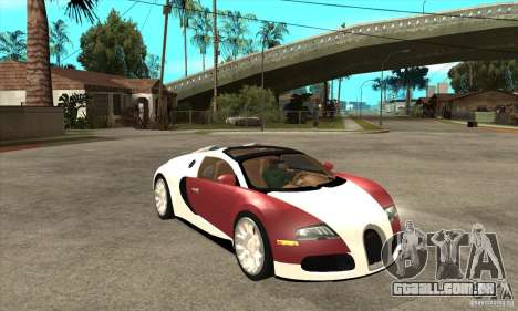 Bugatti Veyron Grand Sport para GTA San Andreas vista traseira