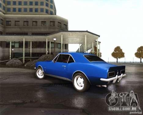 Chevrolet Camaro 1969 para GTA San Andreas vista direita