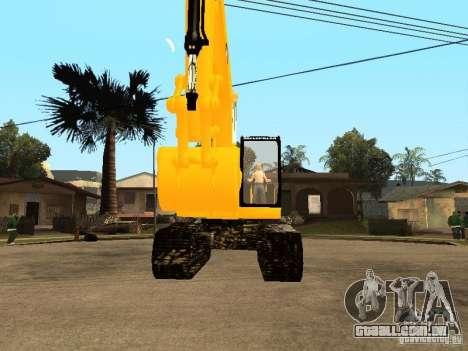 Escavadeira CAT para GTA San Andreas vista direita