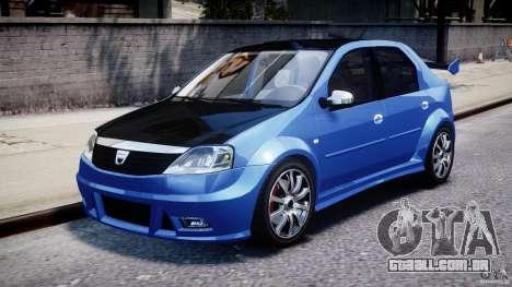 Dacia Logan 2008 [Tuned] para GTA 4 esquerda vista