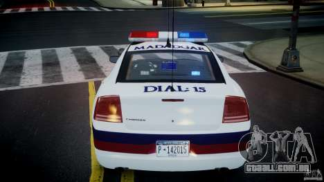 Dodge Charger Karachi City Police Dept Car [ELS] para GTA 4 vista superior