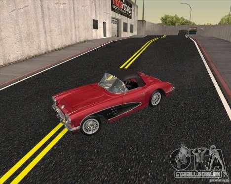 Chevrolet Corvette 1959 para GTA San Andreas vista traseira