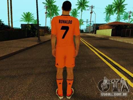 Cristiano Ronaldo v3 para GTA San Andreas por diante tela