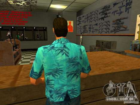 Tommy Vercetti no AMMU-NATION para GTA San Andreas terceira tela