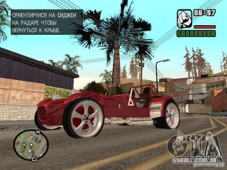 Caterham CSR 260 para GTA San Andreas esquerda vista