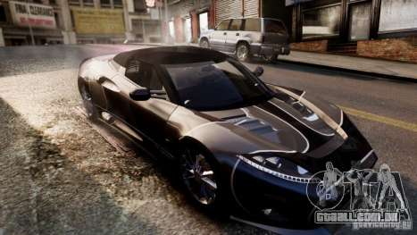 Spyker C8 Aileron Spyder Final para GTA 4 vista superior