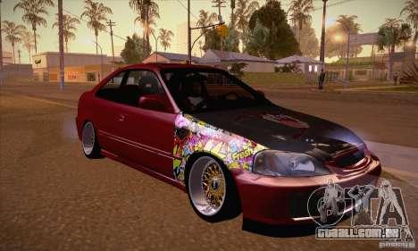 Honda Civic Tuning 2012 para GTA San Andreas vista traseira