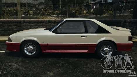 Ford Mustang GT 1993 v1.1 para GTA 4 esquerda vista