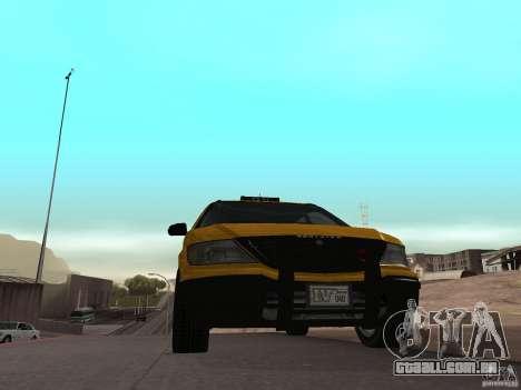 Taxista de GTA 4 para GTA San Andreas traseira esquerda vista