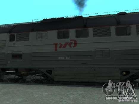 2te116 RZD para GTA San Andreas esquerda vista