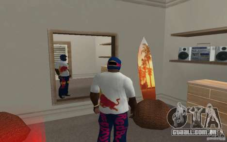 Red Bull Clothes v2.0 para GTA San Andreas segunda tela
