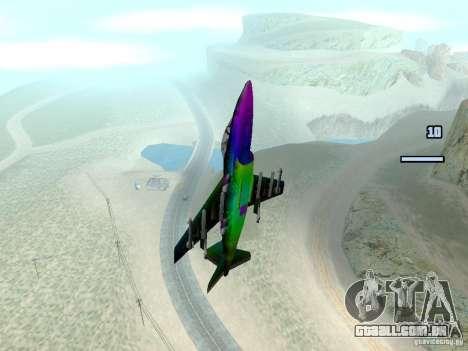 Colorful Hydra para GTA San Andreas traseira esquerda vista