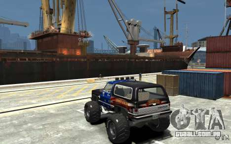 Chevrolet Blazer K5 1986 Monster Edition para GTA 4 traseira esquerda vista