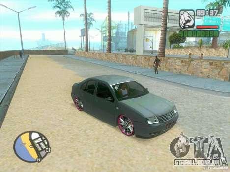 VW Bora Tuned para GTA San Andreas traseira esquerda vista