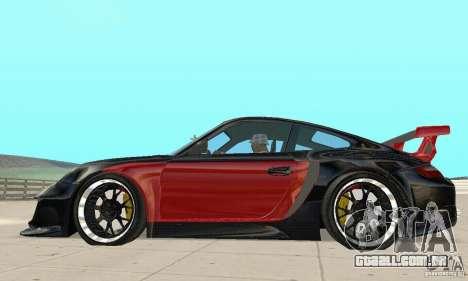Porsche 911 GT2 NFS Undercover para GTA San Andreas traseira esquerda vista