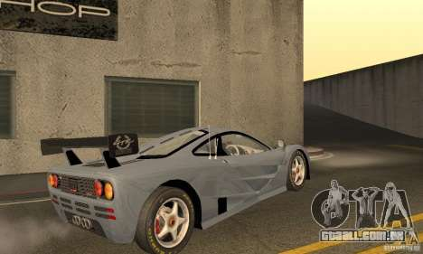 Mclaren F1 LM (v1.0.0) para GTA San Andreas vista direita