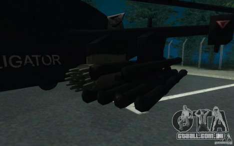 KA-52 ALLIGATOR v1.0 para GTA San Andreas vista direita