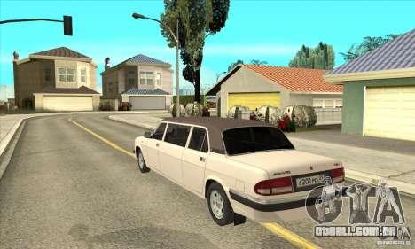 GAZ 3110 Sedan para GTA San Andreas traseira esquerda vista