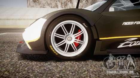 Pagani Zonda R 2009 para GTA 4 vista inferior