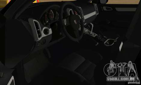 Porsche Cayenne Turbo Black Edition para GTA San Andreas vista traseira