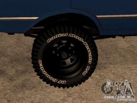 Moskvich 412-4 x 4 para GTA San Andreas esquerda vista