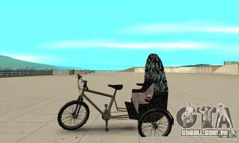 Manual Rickshaw v2 Skin3 para GTA San Andreas esquerda vista