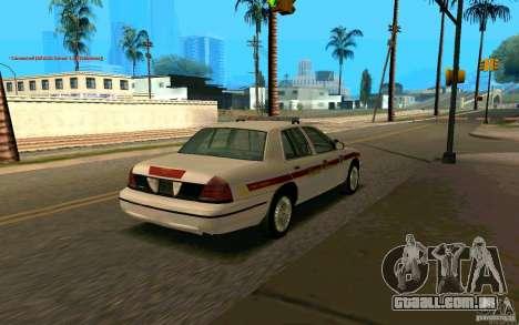 Ford Crown Victoria South Dakota Police para GTA San Andreas traseira esquerda vista
