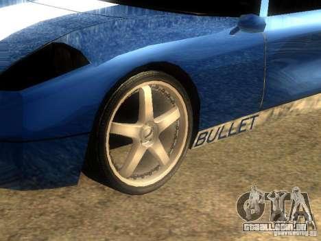 Bullet GT Drift para GTA San Andreas esquerda vista