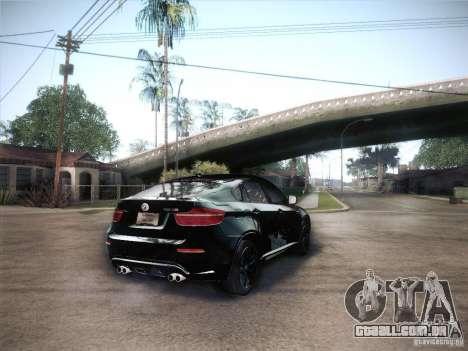BMW X6M para GTA San Andreas esquerda vista