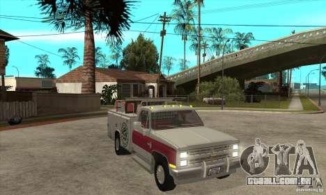 Chevrolet Silverado - utility para GTA San Andreas vista traseira