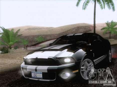 Ford Shelby Mustang GT500 2010 para as rodas de GTA San Andreas