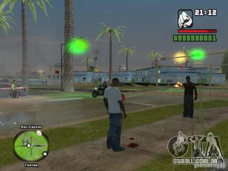 T-shirt do Adidas Crazy Dog para GTA San Andreas segunda tela