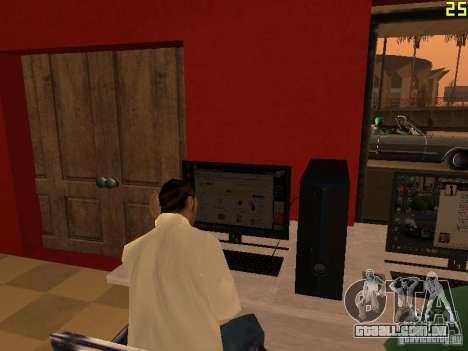 Ganton Cyber Cafe Mod v1.0 para GTA San Andreas quinto tela