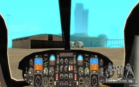 NYPD Eurocopter por SgtMartin_Riggs para GTA San Andreas vista interior