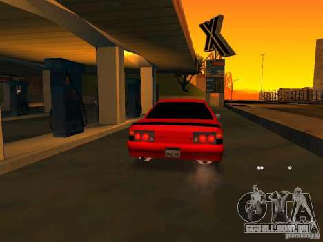 Previon GT para GTA San Andreas vista interior